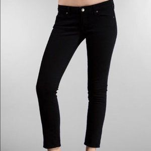 Paige Roxbury Crop Black Jeans 31